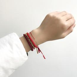 Sihirli Balık Moda Kırmızı Iplik Dize Bilezik Şanslı Kırmızı El Yapımı Halat Kadınlar için Yoga Bilezik Toptan tibet Takı Lover nereden