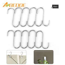Wholesale Hanger Clasp - ABEDOE 10pcs Universal Stainless Steel S Hook for Kitchen Tableware Pot Pan Clothe Storage Multifunction Hooks Hanger Clasp Rack