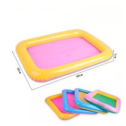 2019 giocattolo del vassoio 60 * 45cm Indoor Magic Play Sand Giocattoli per bambini Mars Space Gonfiabile Vassoio di sabbia Accessori Tavolo mobile in plastica giocattolo del vassoio economici
