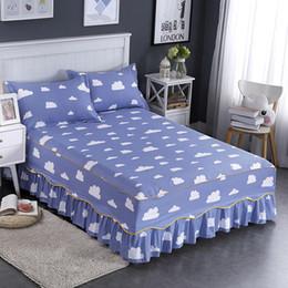 Wholesale queen suite - 1pc cotton colorful new print bed skirt bedspread suite single bed single hat bedspread # L