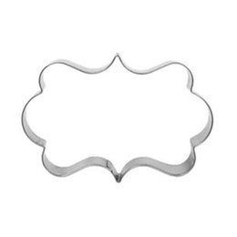 Wholesale Pictures Ceramic - Wholesale- Kichen Stainless Steel Cookie Cutters European Style Pattern Frame Cake chocolate Mold Oval Picture Frame Wreath