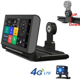 Wholesale Android Car Dash - 7Inch Touch Screen 4G ADAS Remote Monitor Car DVR Android 5.1 1080P HD Dual lens WIFI dash cam With GPS Navigation