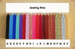 2019 bastoni di cera sigillante Strisce di tenuta fai-da-te Stick in cera Branding Paint Seal Seal Wax Strumenti fai da te per carta Invito di nozze bastoni di cera sigillante economici