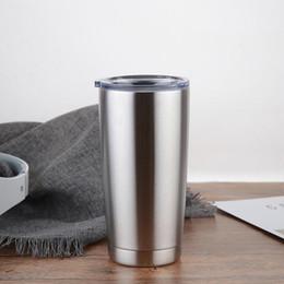 En Çok Satan 600 ml Yeni Geldi Şerit Metal Yalıtımlı Seyahat Kupa Su Şişesi Bira Kahve Kupalar için Kapaklı Araba Bardak Kahve Fincanı Drinkware nereden
