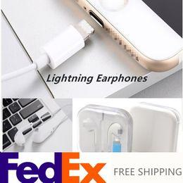 Транспортировка гарнитуры Lightning от наушников-вкладышей FedEx для наушников Iphone 7/8 / Xs Поддержка проводного вызова, проводного через заводские наушники Bluetooth supplier headphones fedex от Поставщики наушники fedex