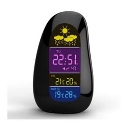 Cobblestone Fashion Design Inalámbrico Recibir meteorología Estación Interior / exterior Medidor de temperatura / humedad + EU / US Charger desde fabricantes