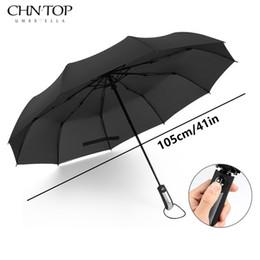 Wholesale Men Umbrella Folding - CHN-TOP Big Wind Quality Resistant Umbrella Rain Women Automatic 10Rib Luxury Wide Windproof Golf Business Men For Car Umbrella