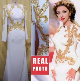 Bijou manches longues blanc paillettes sirène perlage élégante classique robe de soirée sur mesure robe de bal belle ? partir de fabricateur