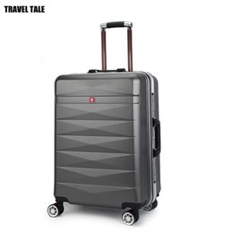 """Wholesale 24 Spinners - TRAVEL TALE 20""""24 Inch aluminium frame business trolley travel suitcase ABS designer rolling luggage"""