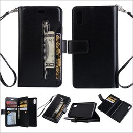 Wholesale baseball phone covers - Wholesale PU Leather Phone Case For iphone x 7 8 Wallet Mobile Phone Cover For samsung phone Cases