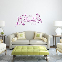 Wholesale Modern Decorative Art - Butterfly Personalized DIY Vinyl Decorative Butterflies Fashion Wall Art Nursery Girl Wall Sticker Wall Stickers for Kids Rooms