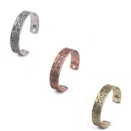 Wholesale Wholesale Magnetic Health Jewelry - Skyrim Fashion Phoenix Parrent Magnetic Therapy Cuff Bracelets For Arthritis Health Management Bangle Jewelry Findings 10pcs