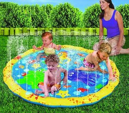 Wholesale mat games - Swimming pool baby wading kiddie squirt fun pool outdoor squirt&splash water spray mat for Lawn Beach Play Game Sprinkler Seat