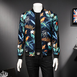 e7301920fd0 Mens Pattern Jacket Floral Print Male Jacket Vintage Classic Fashion  Designer Bomber Jackets Men Party Club Outfit Men oversize