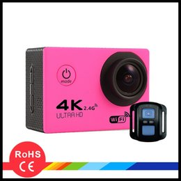 4K Action Camera F60R WIFI 2.4G Controllo Bluetooth 2.0 LCD HD 1080p 60fps Registrato con conchiglie resistenti all'acqua da 30 m DHL gratis da