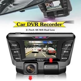 скрытые камеры записи Скидка Wi-Fi автомобильный видеорегистратор камера видеомагнитофон 2.7 дюймов 16: 9 TFT TF карта 1080P 4K HD-скрытая камера Dash двойной объектив 16-128GB Loop Record G-Sensor