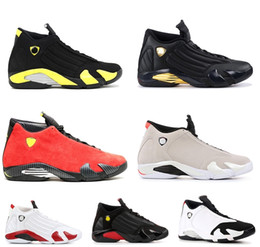 Wholesale gold toe brands - with Box 2018 Mens and Womens 14s Basketball Shoes XIV Desert Sand Black Toe Thunder for Men Brand Designer Sports Shoes US5.5-13
