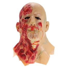2019 máscaras zombie completas Halloween Adult Mask Zombie Mask Latex Bloody Scary Extremely Asqueroso Máscara facial Scary para niño Horror Decoration2017 máscaras zombie completas baratos