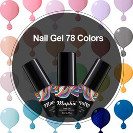 Wholesale Sequins Nail Polish - Maphie 78 Colors 50Pcs Lot Beauty Nail Art Long Lasting Nail Gel Polish Sequins Decorations Soak Off UV Gel Varnish