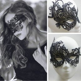máscaras roxas para bola de máscaras Desconto Máscara bela senhora Black Eye Floral Lace mulheres Venetian Masquerade Party Fancy Dress Prom Acessórios máscara metade da face