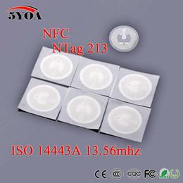 5YOA 50pcs / Lot NFC TAG autocollant 13.56 MHz ISO14443A NTAG 213 Étiquettes clés llaveros llavero Token Patrol Universal ? partir de fabricateur