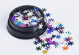 DHL palillo del clavo de Navidad blanco lentejuelas copo de nieve productos de decoración Nail Art Sticker Decal Slider Manicure Wraps herramienta desde fabricantes