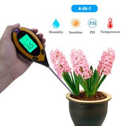 Новый 4 в 1 Тестер Почвы PH Влажность Температура Измерения Интенсивности Солнечного Света Анализ Для Садовых Растений Цветок Гидропоники Садовые Инструменты от