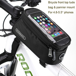 "Wholesale Asus Cell Phones - 5.5"" Bicycle Bike Mobile Cell Phone Holder Waterproof Bag for Oneplus 5 3T 3 Leeco le 2 1s Asus zenfone max 3 pro Huawei honor 8"