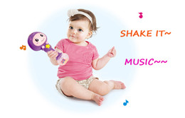 sticks musical instruments Promo Codes - Baby Shaker Sand Hammer Toy Dynamic Rhythm Stick Baby Rattles Kids Musical Party Favor Musical Instrument Education Toys