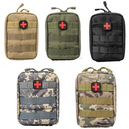 Wholesale utility canvas bags - Tactical Medical Bag Molle Camouflage Tool Pack Phone Bag Outdoor Travel Hunting Utility First Aid Kit Waist bag LJJD28