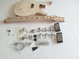 Nuevo kit de guitarra de proyecto de marca con 22 trastes con todas las piezas desde fabricantes
