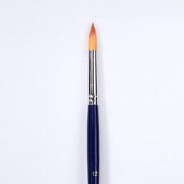 5 Pçs / set Azul Ganso Amarelo Cabelo Nylon Art Supplies Desenho Arte Caneta de Pintura Escova de Pintura Caneta Fina Pintado À Mão Linha fina Gancho de