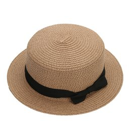 d8a2e216df6 Fashion Unisex Sun block Hat Girl Bow Straw Sun Hat Block Hats For Women  Sunscreen Summer Beach Straw Cap Photography Props