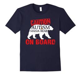 Wholesale Bears Board - Autism Mama Bear on board Caution Autism mama t-shirts gif