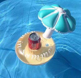 Wholesale Inflatables Stars Decorations - 2 Color Inflatable mushroom Drink Holder Swan Cup Holder Outdoor Swimming Bath Kids Toys Water Floating Party Decorations B001