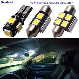 12v levou a luz de traço âmbar Desconto deechooll 13 x lâmpadas do carro da lâmpada do diodo emissor de luz para o outlander de Mitsubishi 2006-2017, auto luz interior para luzes da matrícula do estacionamento da abóbada