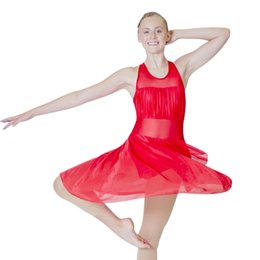 Leotardo blanco al por mayor online-Dancer's Choices Retail Wholesale Navy Halter Dance Leotardo Dress White Girls Ballet Dancewear Blue Ladies Disfraz de rendimiento