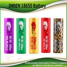 Wholesale Print Wholesale - Hight Quality IMR 18650 Battery 3000mah 3200mah 3300mah 3500mah 40A leopard print MAX50A 50A 2600mAh Rechargeable Battery HOT
