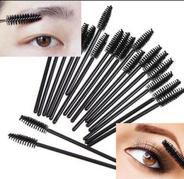 Wholesale Comb Extensions - Eyelash Brush Disposable Eye Lash Comb Black Mascara Brush Makeup Eyelash Extension Make Up Brushes OOA4466