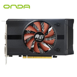 Wholesale Vga Ddr5 - New Onda GTX750Ti 4G GDDR5 128bit Graphics Card With HDMI+VGA+DVI and Cooling Fan Support High Definition Video