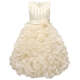 Wholesale White Knee Length Frocks - Luxury Baby Girls Dress Kids Wedding Birthday Dresses Events Dance Party Formal Wear Children's Clothing Girl Frocks 3-10 Years