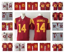 efb186076df Mens USC Trojans #14 Sam Darnold 32 O.J Simpson 2 Robert Woods Adoree  Jackson 9 JuJu Smith-Schuster College football jerseys usc football jersey  for sale