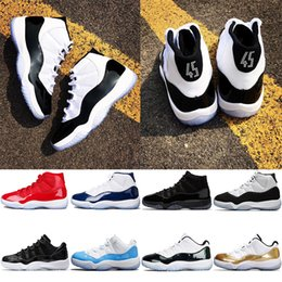 differently 55f21 df637 retro 13 blau Rabatt Nike Air Jordan Retro Concord 45 Basketball Schuhe 11  11s Männer Frauen
