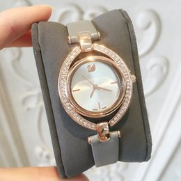 Wholesale clock girl - 2018 Top Brand New Luxury Female watch women Genuine leather wristwatch Hot sales Classic quartz special gift for girls nice fashion clock