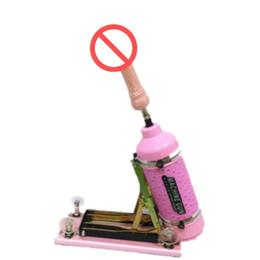 2019 produto flocagem Luxo Rosa Atualizado Automático Ajustável Multifuncional sexo metralhadora masturbação feminina máquina de sexo, Movimento Velocidades: 0-415 vezes minuto
