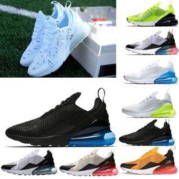 best service b995d 8331b air max Vente chaude Hommes Triple Noir 270 AH8050 Entraîneur Sport  Chaussures Femmes semelle 270 maxes Chaussures de tennis taille 36-45