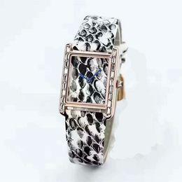 NEW! 2018 элегантные кожаные часы змея леди модные часы с бриллиантами розовое золото женщины горный хрусталь часы платье браслет кварц люкс от