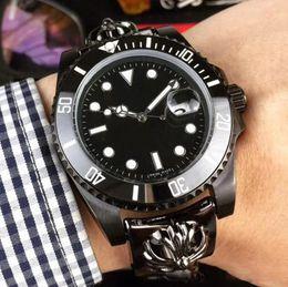 Wholesale men luxury automatic watch replicas - New Luxury Mens Watch Black GMT Ceramic Bezel Bracelet Strap Sapphire Cystal Automatic Mechanical Movement Stainless Steel Men Replica Watch