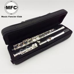 Frete Grátis Brand New Flauta MFC 16 Buraco Fechado Instrumento Musical Banhado A Prata de