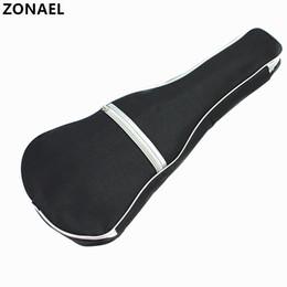 força guitarra Desconto ZONAEL Ukulele Macio Ombro Preta Carry Case Bag Musical Com Alças Para Guitarra Acústica Instrumentos Musicais Peças Acessórios